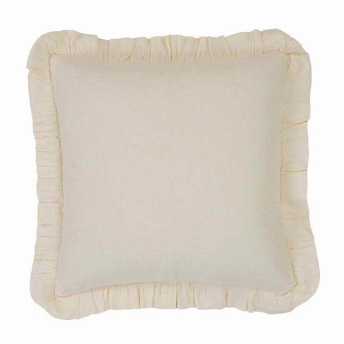Abigail Ruffle Pillow W/Down Fill 18x18