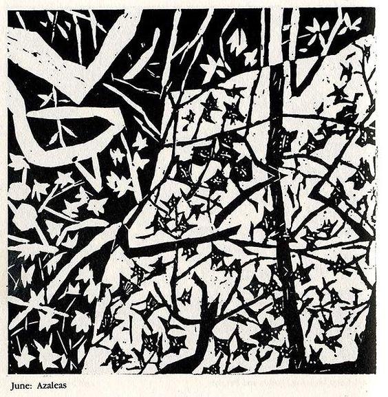 Shiko Munakata, woodcut calendar
