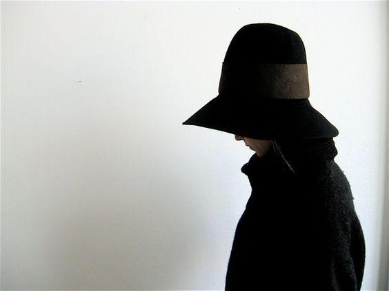 Vintage Yohji Yamamoto Wool Wide Brimmed Hat. by SouvenirSouvenir, $378.00