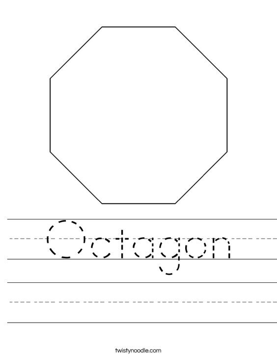 Number Names Worksheets octagon shape pictures : Pinterest • The world's catalog of ideas