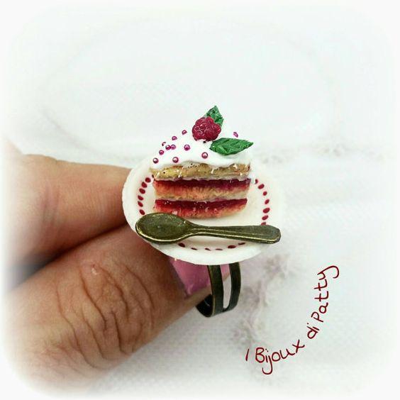 Guarda questo articolo nel mio negozio Etsy https://www.etsy.com/listing/462167130/anello-torta-ai-lamponi