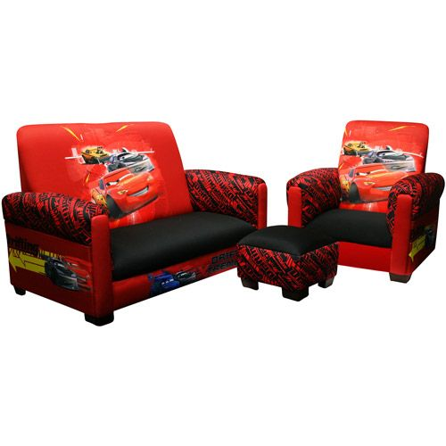 Disney Cars Drift Toddler Sofa Chair And Ottoman Set