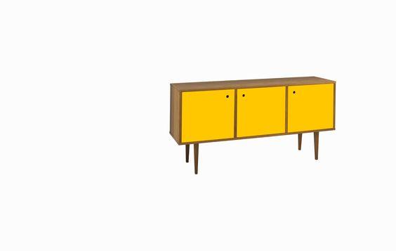 Buffet Amarelo Bonfim - Estilo Retrô | MUMA - Móveis e objetos de design assinado - Entrega em todo o Brasil