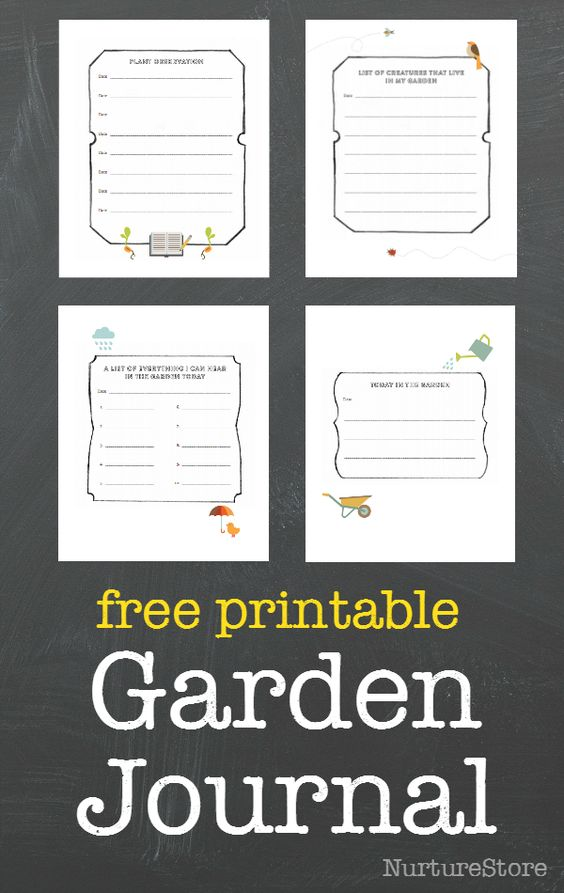 There's a lovely FREE Garden Journal printablesover at NurtureStore.  In celebration of the new book The Garden Classroom, which is full of creative ide