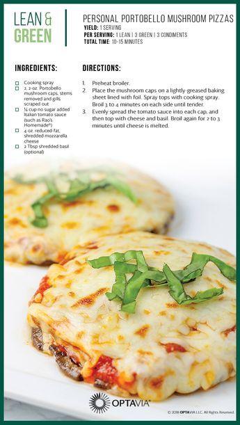 Personal Portobello Mushroom Pizzas Lean Protein Meals Lean And Green Meals Lean Meals