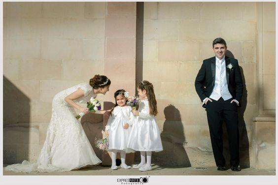 fotografia novios boda damitas flower girls niñas