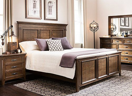Rise And Shine With The Stunning Looks Of The Wittington 4 Piece Queen Bedroom Set This Handsome Group I Furniture Queen Sized Bedroom Sets Bedroom Sets Queen