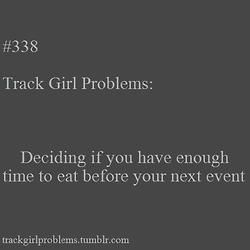 Track Pack -  This is me every single time at a track meet ha ha I usually eat on the way to the field  - #HalfMarathonTraining #MarathonTraining #Marathons #Pack #RunDisney #RunnerProblems #RunningCostumes #RunningHumor #RunningTips #track