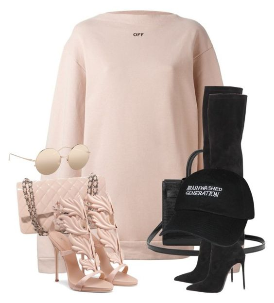 """""""Untitled #3647"""" by xirix ❤ liked on Polyvore featuring Off-White, Yves Saint…"""