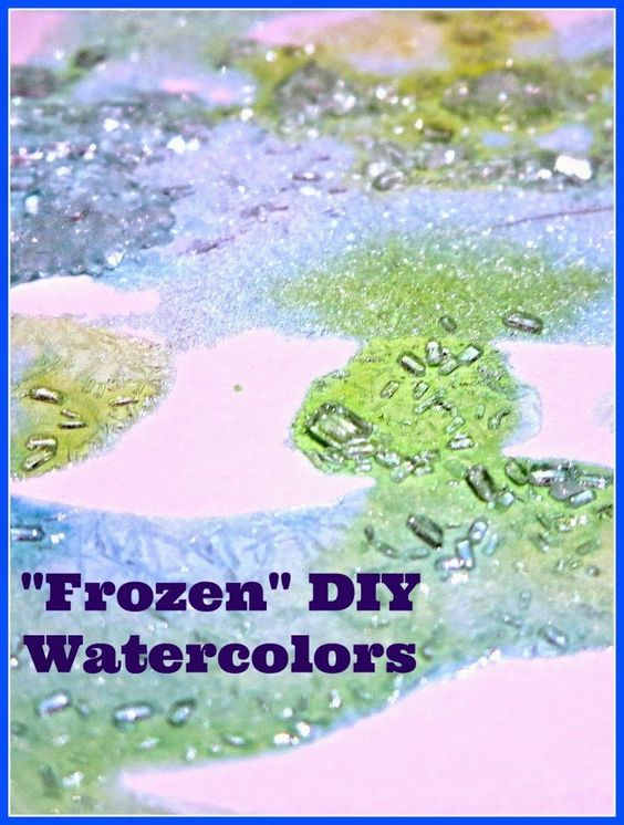 5 Minutes to set up this quick activity for kids - Frozen DIY Watercolors