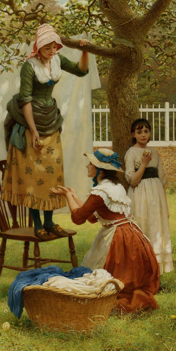 The Daughters of Eve by George Dunlop  I am going to practice painting fabric. It is fascinating!