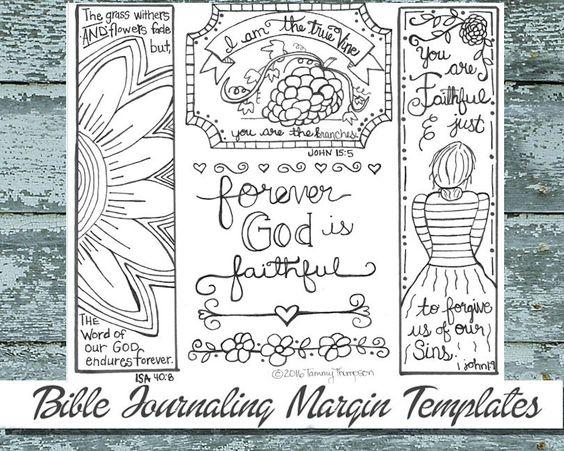 Bible Journaling, Adult Coloring, Bible Verse