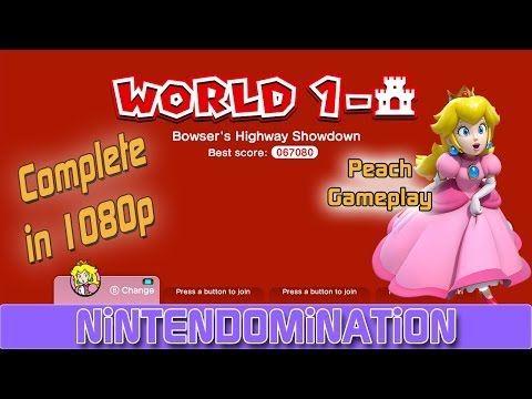Super Mario 3D World - Complete 1- CASTLE - PEACH Gameplay スーパーマリオ3Dワールド