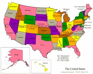 United States Control Maps Masters Blank Colored Labeled Maps - Labled us map