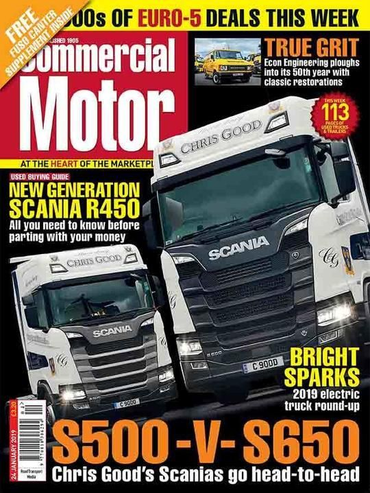 Commercial Motor 24 January S500 V S650 Chris Good S Scania S Go Head To Head Used Buying Guide New Generation Scania Engineering Need To Know Commercial
