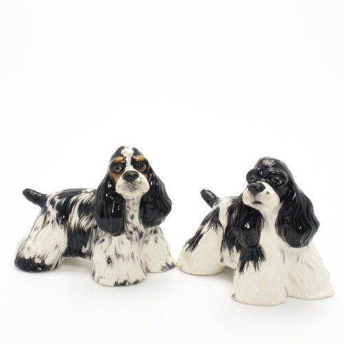 American Cocker Spaniel Dog Ceramic Figurine Salt Pepper Shaker 00028 Ceramic Handmade Dog Lover Gift Collectible Home Decor Art and Crafts by Cocker Spaniel - madamepOmm -. $59.00. American Cocker Spaniel Dog Lover Ceramic Original Handmade Hand Paint Salt and Pepper Shaker Figurine Ceramic Home Decor Collectibles  Made of ceramic porcelain high fired interior apply clear under-glaze, food safe painted with attention hand painted acrylic paint then apply clear gloss...