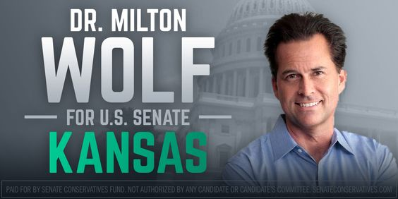 POLL ALERT: Kansas Race Down to Single Digits~~Conservative Dr. Milton Wolf (R-KS) has cut Senator Pat Roberts' lead down to just nine points and only trails 41-32.