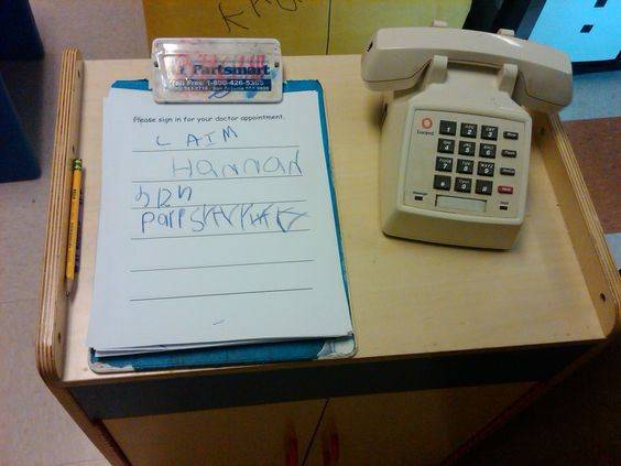 Sign in sheet for doctor's office   Dramatic Play- Doctor's Office ...