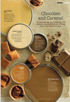 chocolate & caramel paint palette 1