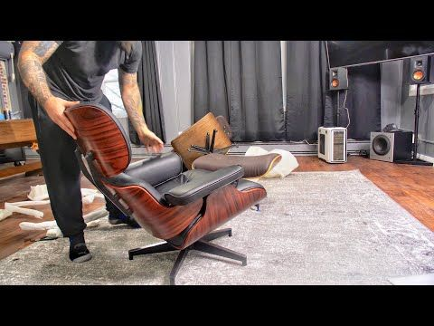 How To Assemble A Herman Miller Eames Replica Chair Youtube Eames Chair Replica Herman Miller Eames Eames Lounge Chair Replica