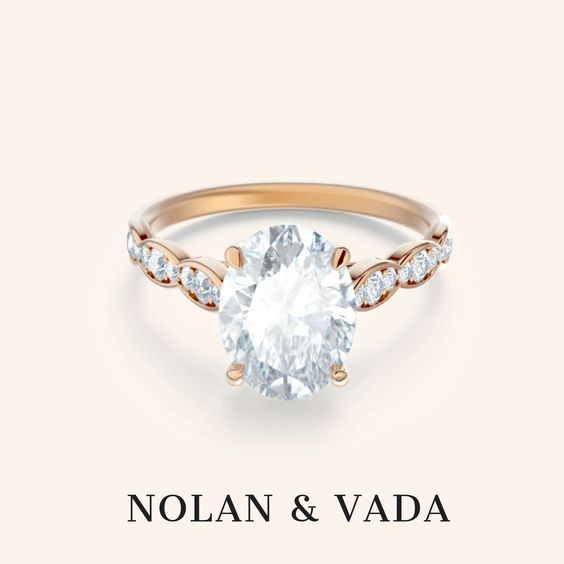 3 Carat White Sapphire Engagement Ring | Madelene Setting - Nolan and Vada