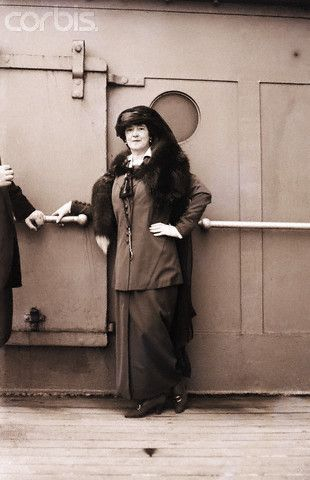 04 Oct 1914 --- Lady Duff-Gordon, Titanic Survivor, and clothing designer known as Lucille --- Image by © Bettmann/CORBIS
