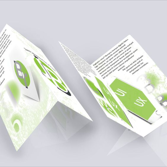 Download Free Mockup - BiFold Brochure - Brochure Photoshop Mockup Download