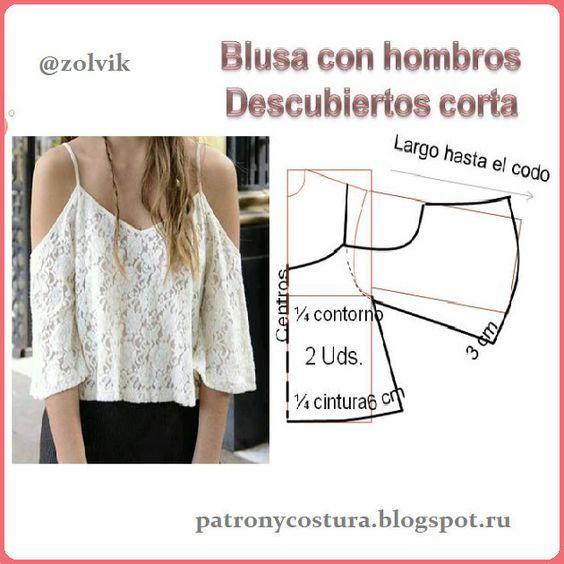 Moldes Para Blusas Modernas Patrones De Vestido De Costura Patrones De Blusa Moldes De Vestidos Cortos
