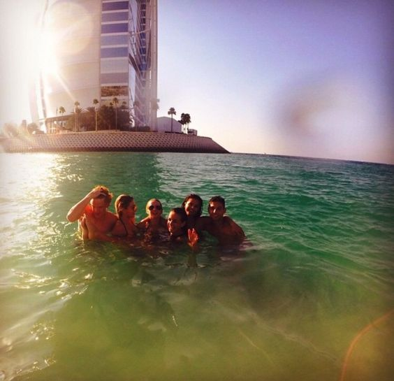 @selenagomez: Thankful for these kids hearted fools. ☺️ #jumeirah #love
