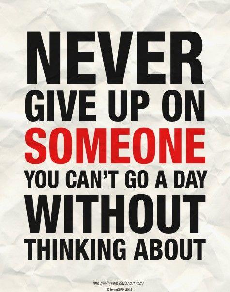 i wont give up <3