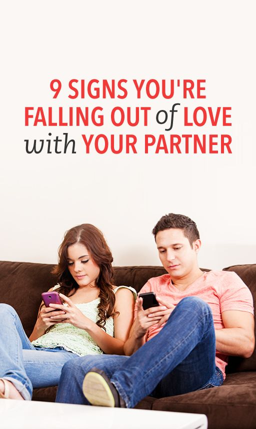 signs of falling out of love