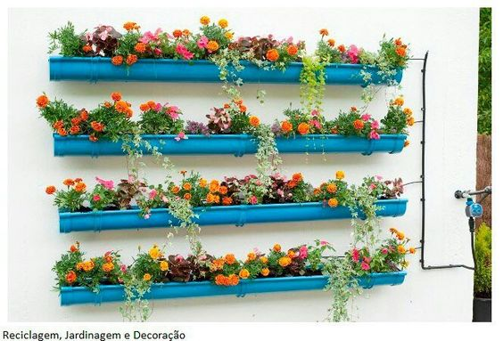 recycler les gouttières pour en faire des jardinières