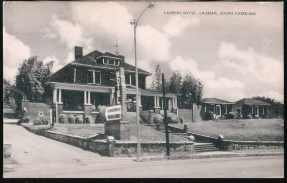 Details About Laurens Sc Motor Court Motel Vintage B W