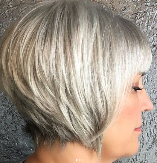 Graduated Bob Embrace The Grey With These Fabulous Hairstyles Photos Gorgeous Gray Hair Thick Hair Styles Short White Hair