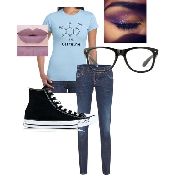 A fashion look from October 2016 by mommabair10 featuring Dsquared2, Converse and Anastasia Beverly Hills