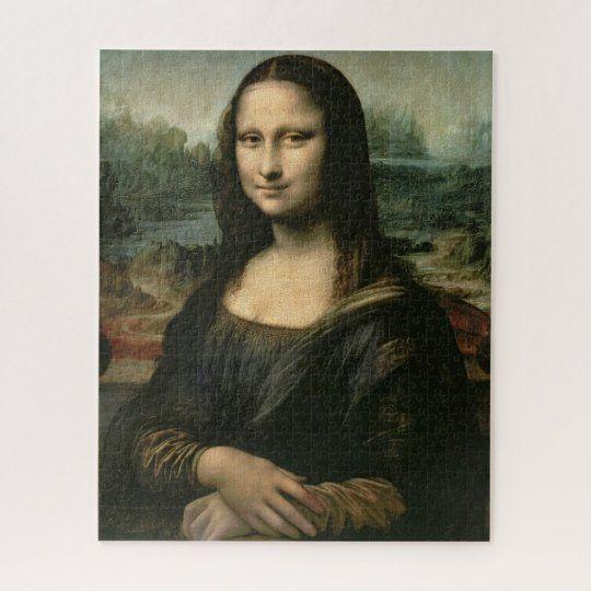 Mona Lisa C 1503 6 Jigsaw Puzzle Zazzle Com In 2021 Mona Lisa Cross Paintings Nicolas Cage
