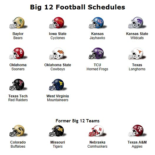 big 12 logo teams - photo #6