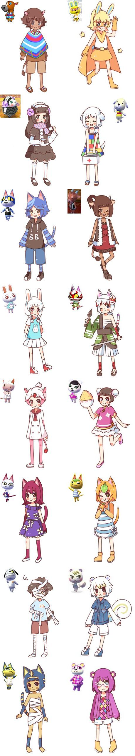 Anime Characters Animals : Animal crossing animals and anime characters on pinterest
