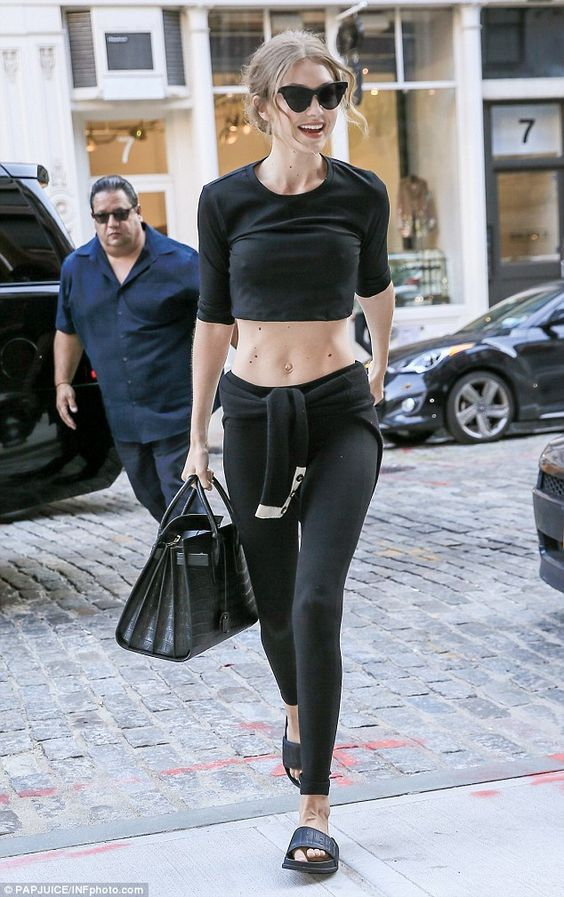 Washboard abs! Gigi Hadid flaunted her taut tummy in a crop top as she was…