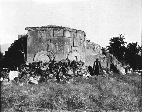 Niğde - Andaval kilise kalıntısı 1909  Gertrude Bell arşivi: