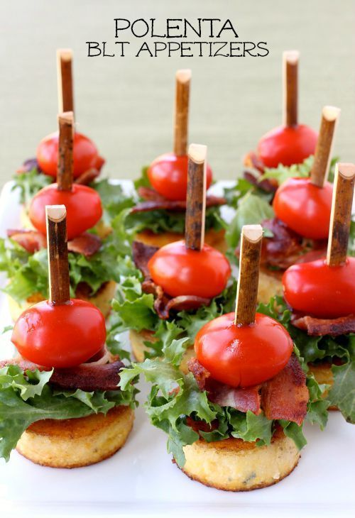 These mini Polenta BLT Appetizers are the best make ahead party food!: