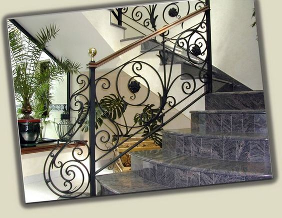 Barandales modernos de escaleras de herreria buscar con for Barandales de madera para jardin