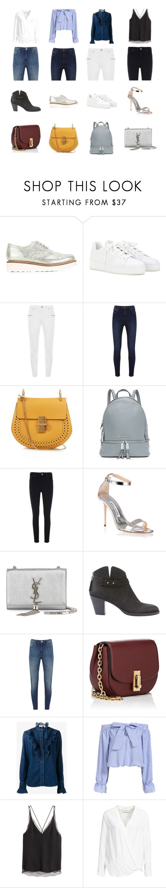 """Four out of Four"" by edellemellett on Polyvore featuring Grenson, Loro Piana, Mint Velvet, Chloé, MICHAEL Michael Kors, Manolo Blahnik, Yves Saint Laurent, Marc Jacobs, STELLA McCARTNEY and By Malene Birger"