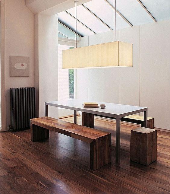 Wie sieht das moderne Esszimmer aus? - esszimmer holzboden ...