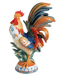 "Fitz and Floyd ""Ricamo®"" Rooster Figurine.   ❤ ❤ ❤"