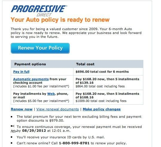 Progressive Car Insurance Bill Pay Ten Simple But Important