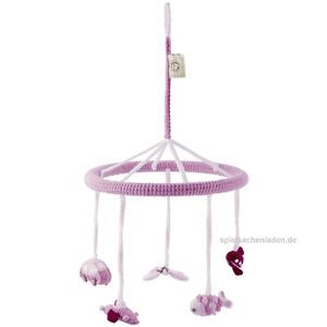 Mobile BELLYBUTTON gehäkelt rosa mit Schmetterling und Fisch *NEUWARE* 361501