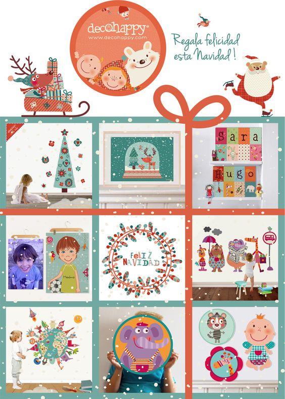 Regala felicidad esta navidad arte y for Vinilos infantiles para ninos
