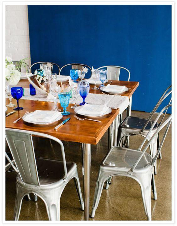 blue wedding table decor I photography > max wagner