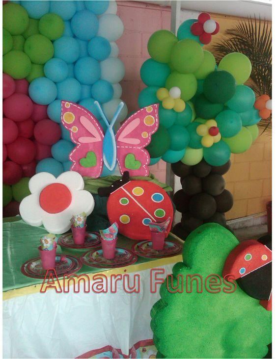 Figuras de anime mariposas y flores ambiente jardin y - Decoracion con mariposas ...